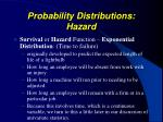 probability distributions hazard