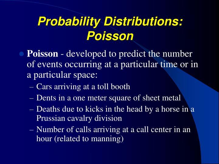 Probability Distributions: Poisson