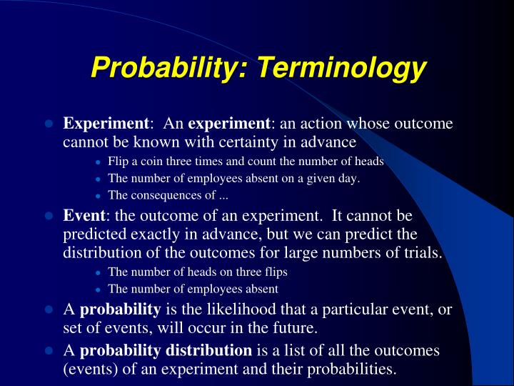 Probability: Terminology