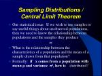 sampling distributions central limit theorem