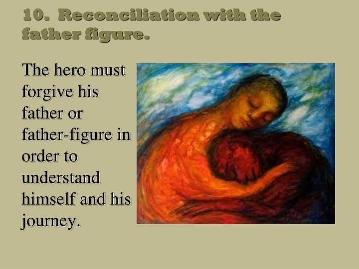 10.  Reconciliation with the father figure.