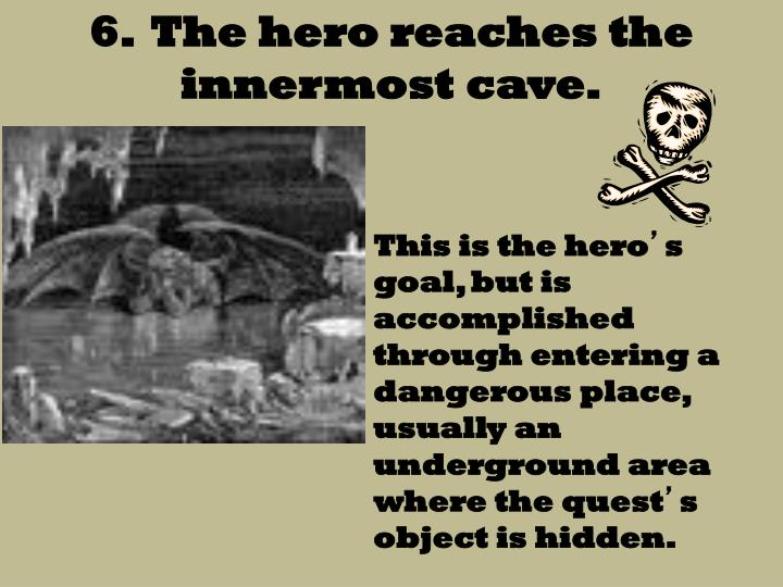 6.  The hero reaches the innermost cave.