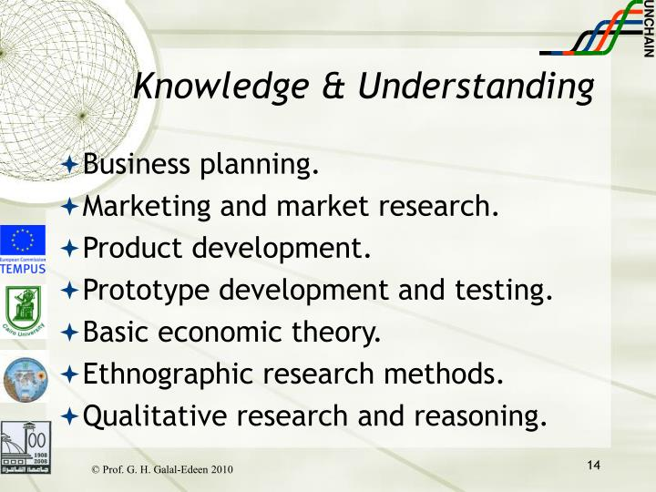 Knowledge & Understanding