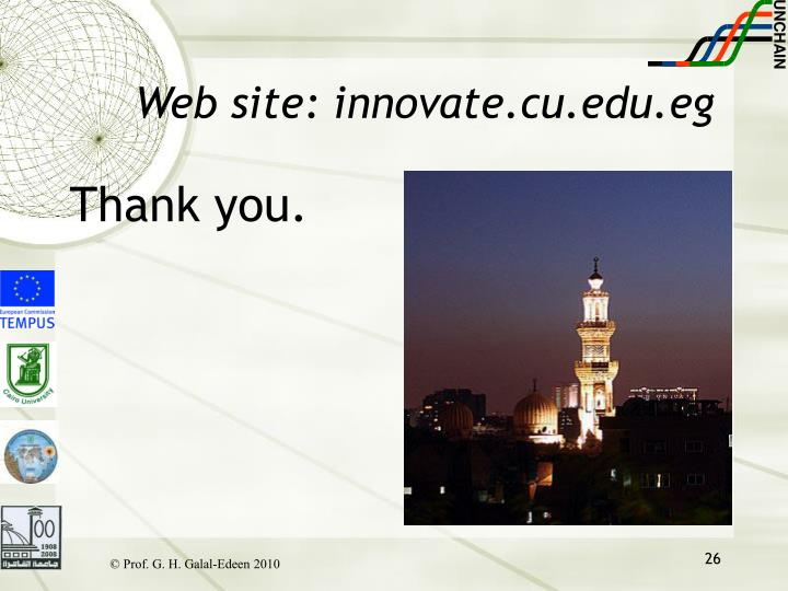Web site: innovate.cu.edu.eg