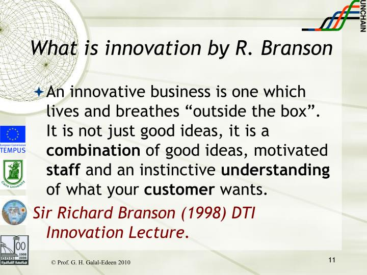 What is innovation by R. Branson