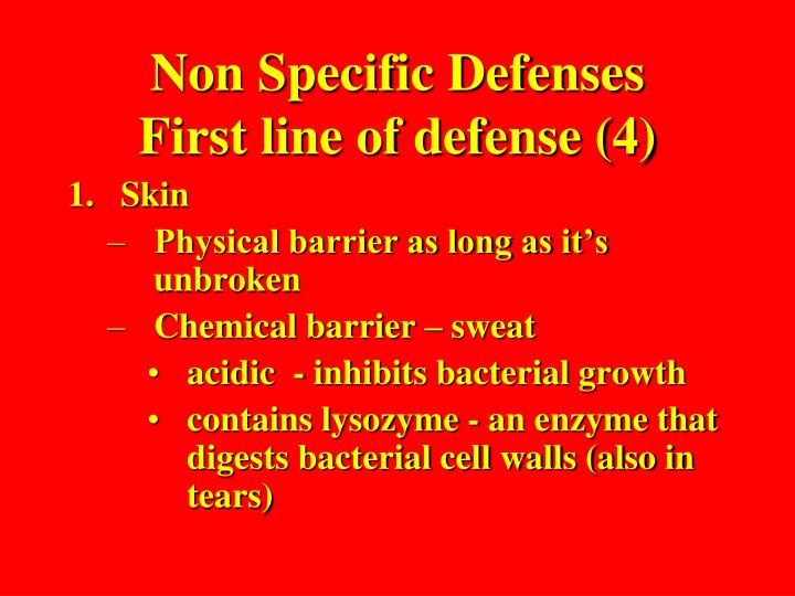 Non Specific Defenses