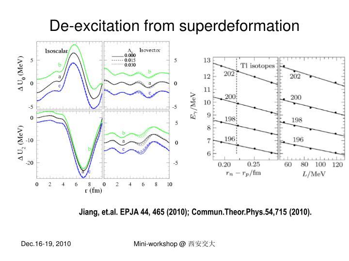 De-excitation from superdeformation