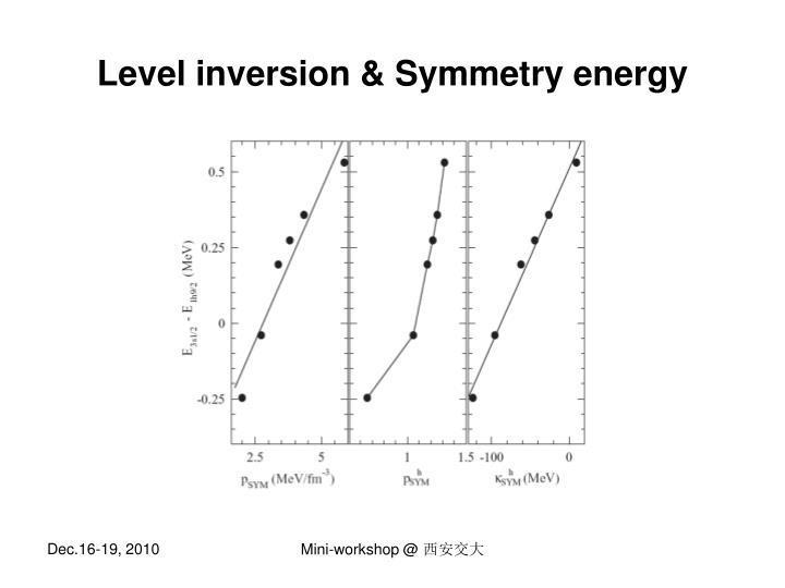 Level inversion & Symmetry energy
