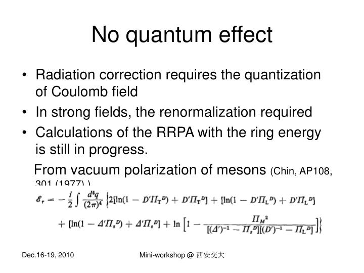 No quantum effect