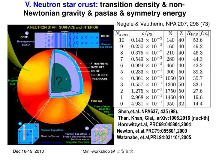 V. Neutron star crust: