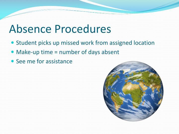 Absence Procedures