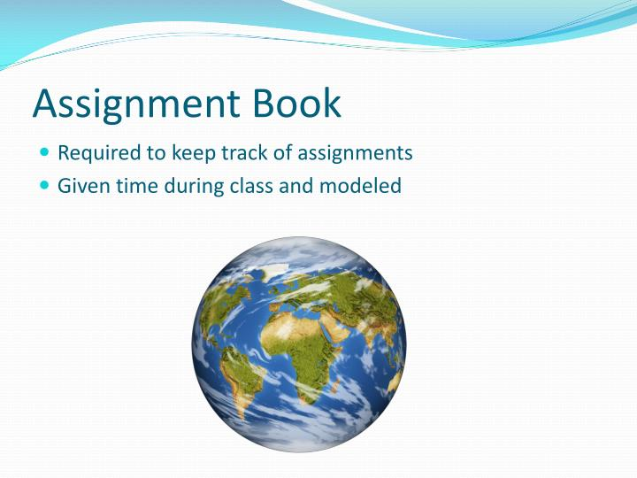 Assignment Book