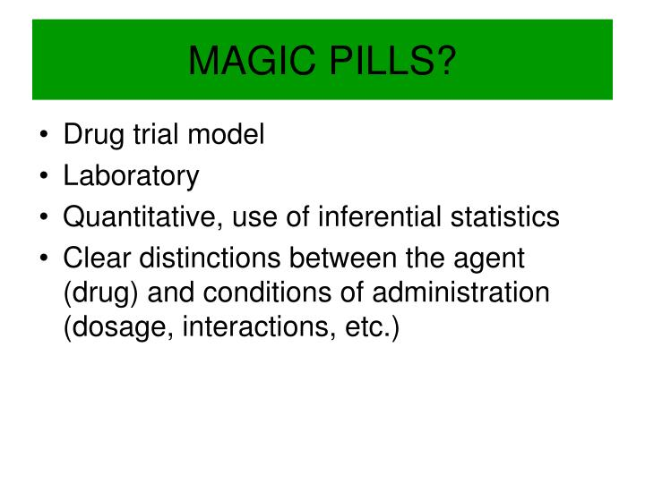 MAGIC PILLS?