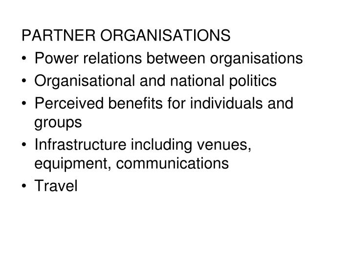 PARTNER ORGANISATIONS