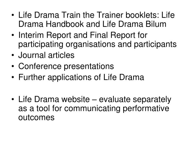 Life Drama Train the Trainer booklets: Life Drama Handbook and Life Drama Bilum