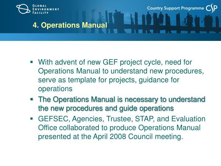 4. Operations Manual
