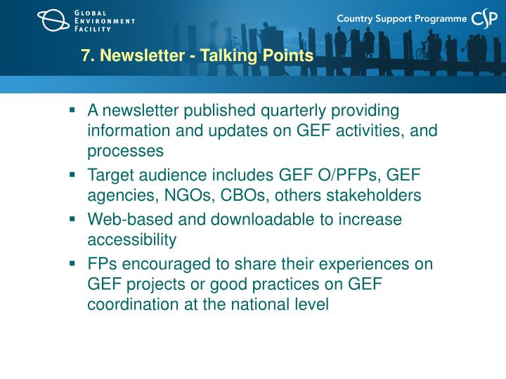 7. Newsletter - Talking Points