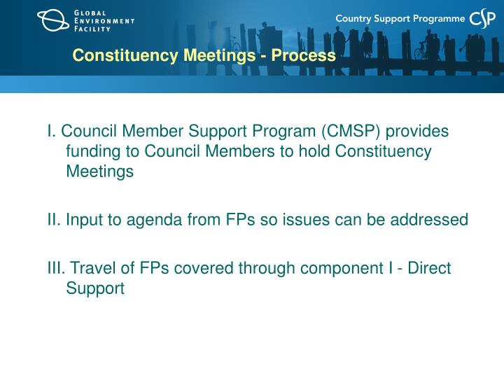 Constituency Meetings - Process