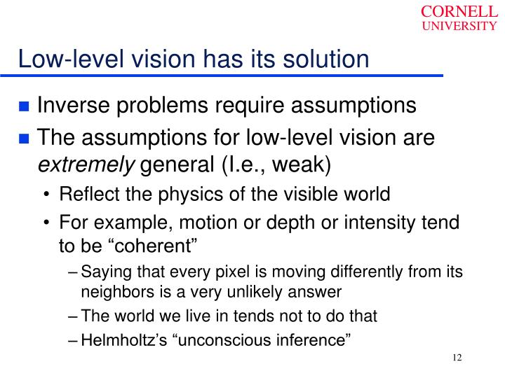 Low-level vision has its solution