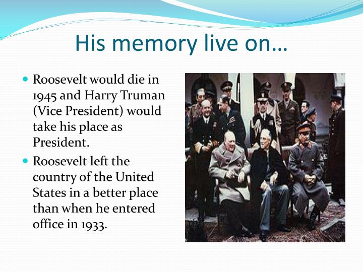 His memory live on…