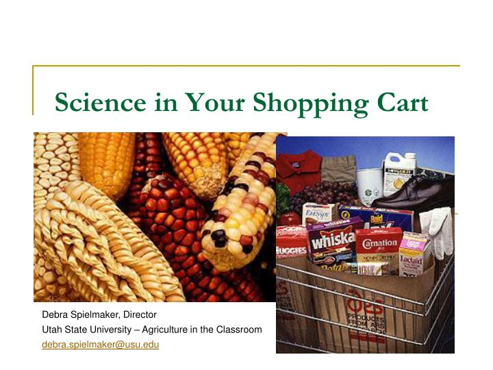 Science in your shopping cart