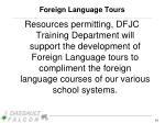 foreign language tours