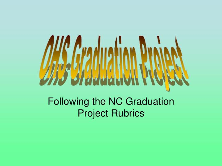 graduation project research paper outline Class of 2016 graduation project final research paper, including title page, outline, and reference page turned in to one's english teacher.
