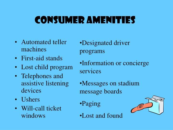 Consumer AMENITIES
