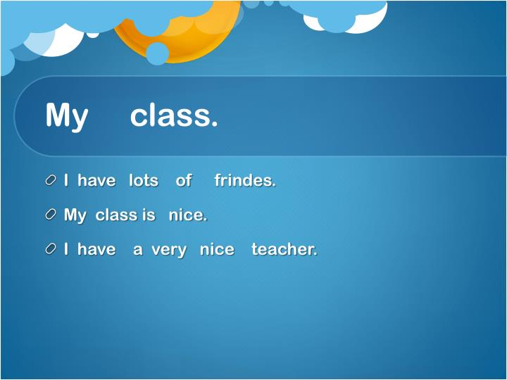My     class.