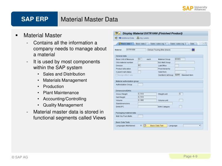 Material Master Data