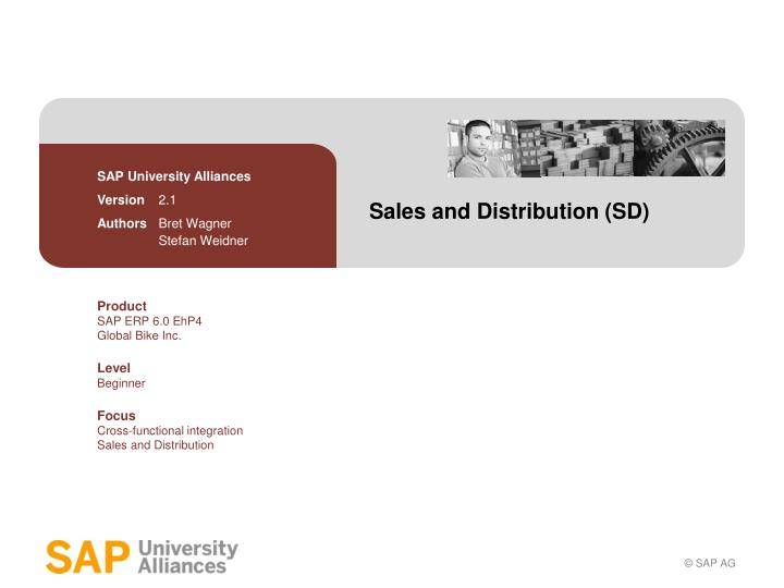 Sales and distribution sd