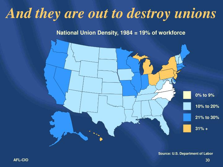 And they are out to destroy unions