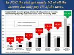 in nyc the rich get nearly 1 2 of all the income but only pay 1 3 of the taxes