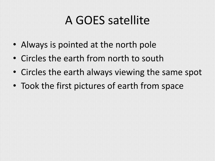 A GOES satellite