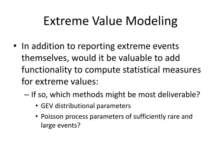 Extreme Value Modeling