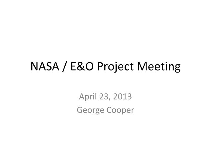 Nasa e o project meeting