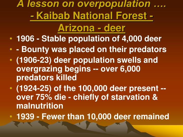 A lesson on overpopulation ….