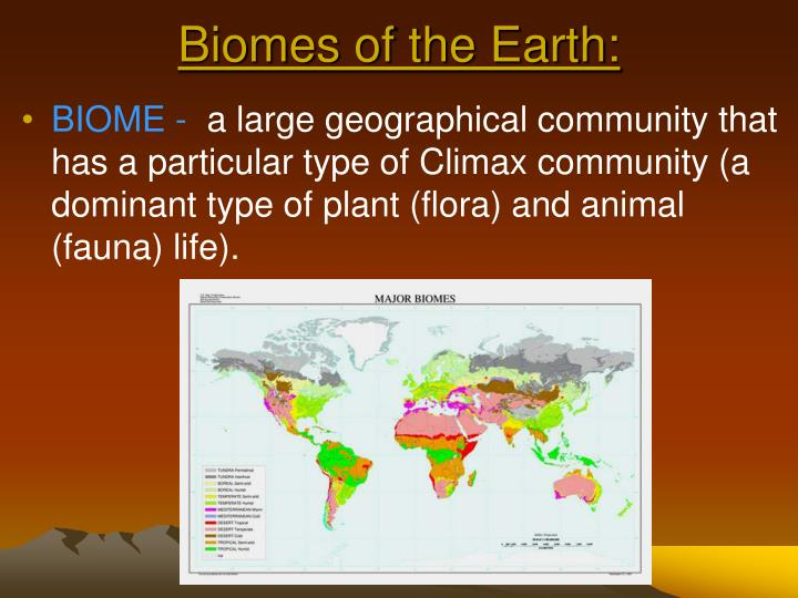 Biomes of the Earth: