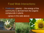 food web interactions