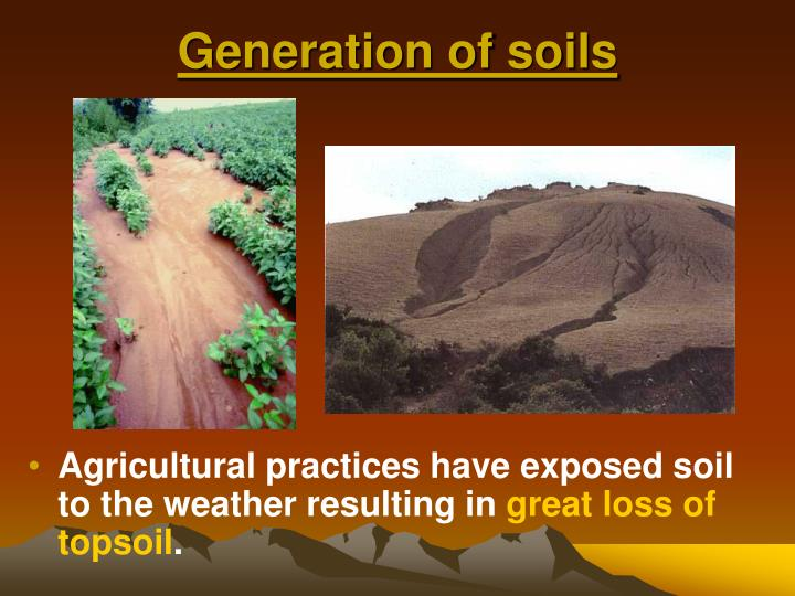 Generation of soils