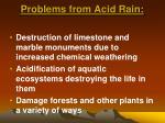 problems from acid rain