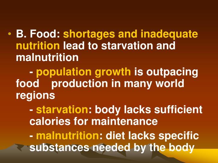 B. Food: