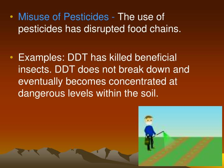 Misuse of Pesticides -