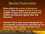 species preservation