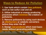 ways to reduce air pollution