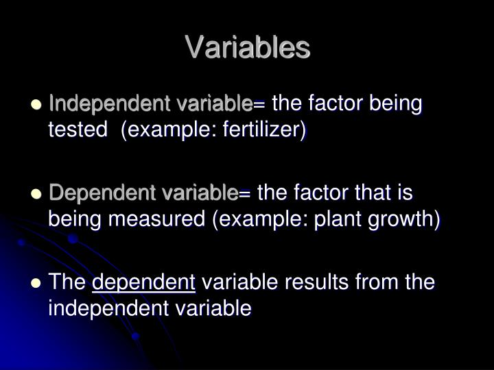 Variables