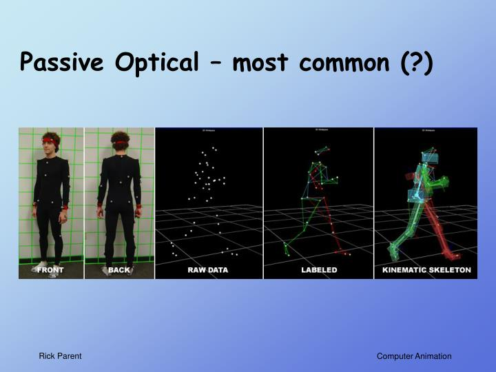 Passive Optical – most common (?)