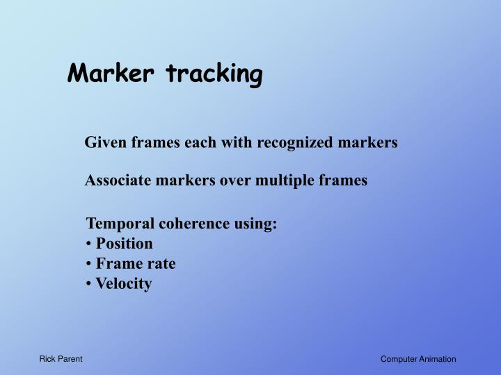 Marker tracking