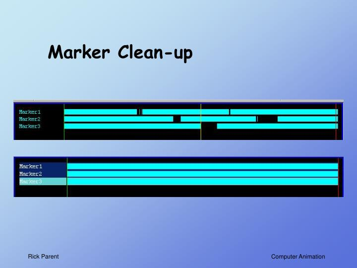 Marker Clean-up