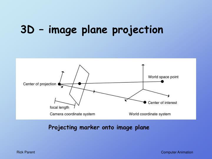 3D – image plane projection